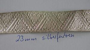 Tresse-Osterreich-23mm-Breite-silberfarben-fuer-Offizier-1meter