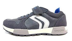 31 Geox 32 J 33 Gris Détails Alfier Sur Bleu Taille Chaussures B Garçons Basses 30 qVzjLSUMGp