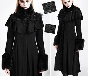 Gothique Hiver Lolita Baroque Fourrure Manteau Punkrave Dentelle Cape Cintré ZUgw6dqp