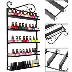 5-Etagere-Metal-Presentoir-Mural-Support-Vernis-a-Ongle-Mur-Rangement-Maquillage