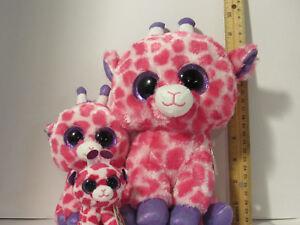 fd377dbb3c8 3 pc Lot SET TY Twigs the Giraffe Pink BEANIE BOOS buddy M