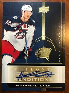 19-20-UD-Trilogy-Hockey-Rookie-Renditions-Auto-RR-20-Alexandre-Texier