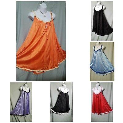 Woman Within Black Red Lace Knee Length Nightgown Sz L 1x 2x 3x 4x B3G1 FREE