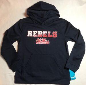 b430fa18 Image is loading NWT-Ole-Miss-Rebels-Youth-Hoodie-Sweatshirt-Medium-