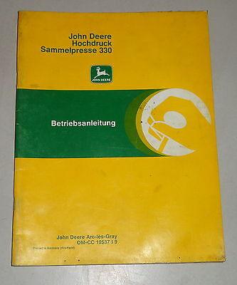 Industrial Motors Operating Instructions/handbook John Deere High Pressure Sammelpresse 330 Attractive Appearance