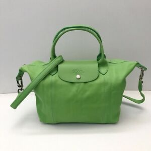 Longchamp-Modele-Depose-Le-Pliage-Cuir-Small-Green-Leather-Bag-COD-PayPal