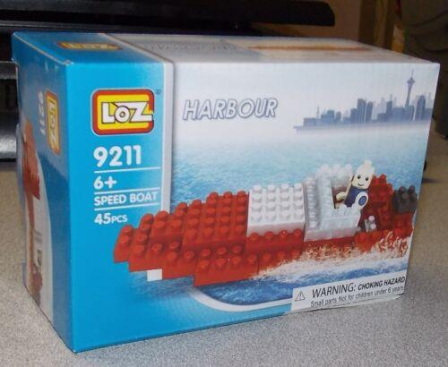 Loz Micro Building Blocks Harbor//Harbour Speed Boat 45 PC Set Brand New