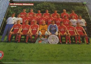 Original Mannschaftskarte Bayern München 1989-90