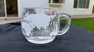 With Label On Bottom Of Mug Nestle Nescafe WORLD GLOBE Map Coffee Cup Mug