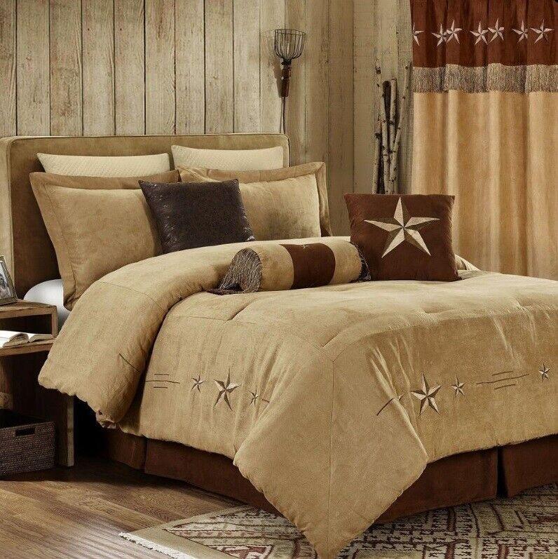 7 Piece Comforter Texas Western Camel Star Bedspread Bedding Luxury Set Curtains
