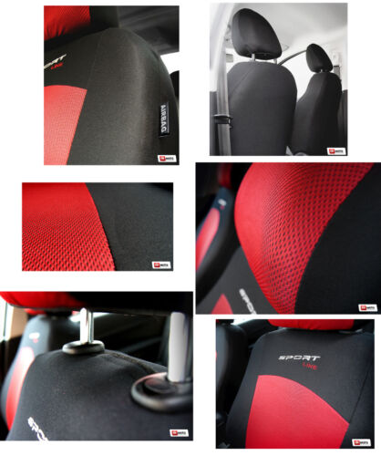 Seat covers universal full set  fit Audi A3  red//black