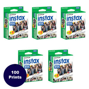 100 Prints Fujifilm Instax Wide Instant Film for 200, 210, 300 Camera 3/2020 4902520217530