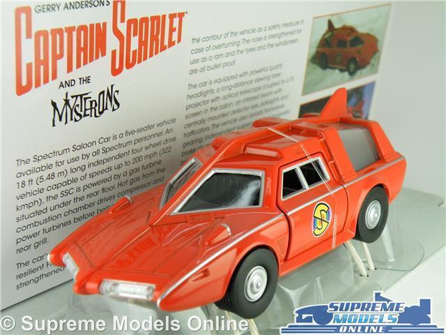 CAPTAIN SCARLET SPECTRUM SALOON CAR SPC MODEL 1 36 SCALE GERRY ANDERSON RED K8