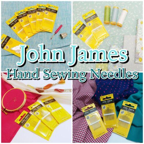 John James Qualité main aiguilles à coudre Quilting Craft aiguille Packs