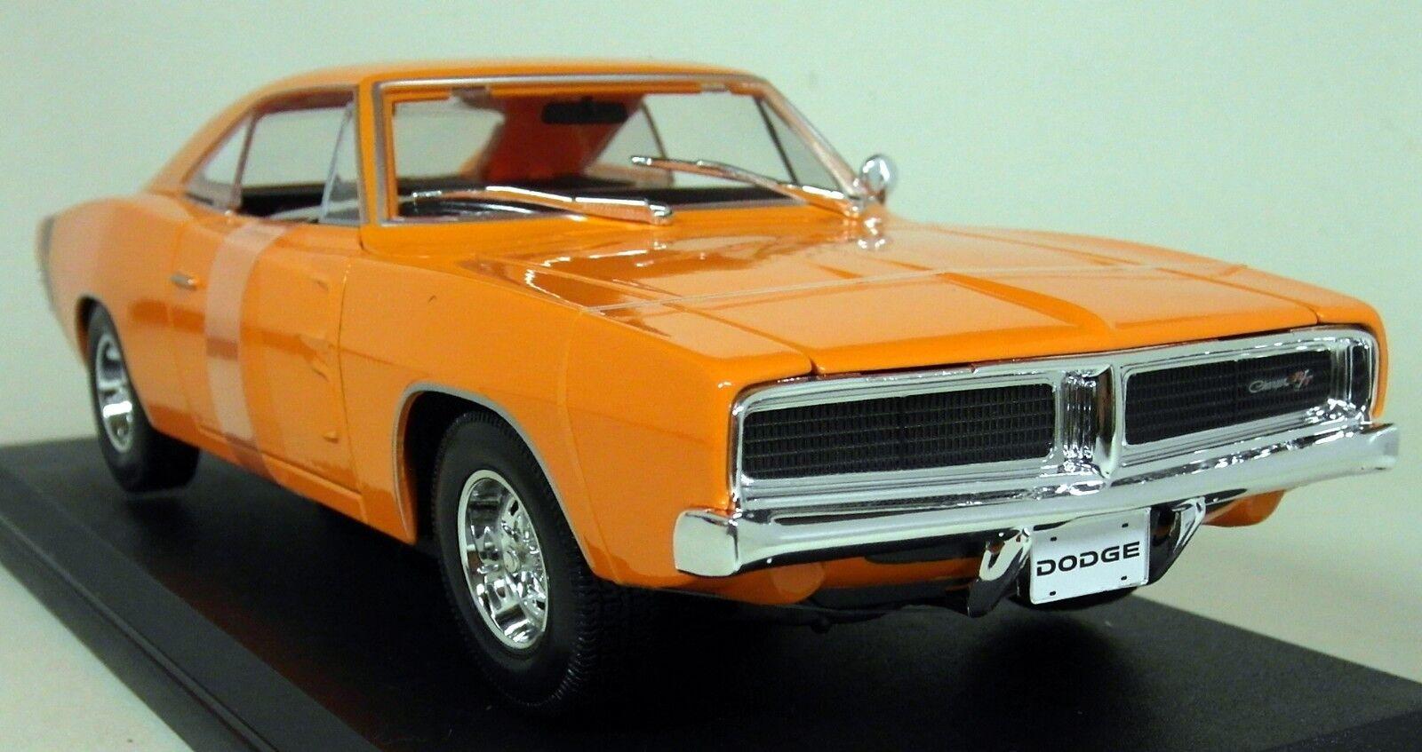 Maisto 1 18 Scale - 1969 Dodge Charger R T orange Diecast Model Car
