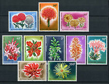 Rwanda 1966 MNH Flowers 10v Set Nature Flora Stamps