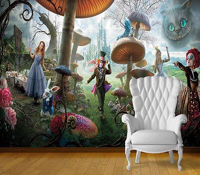 Disney Alice in Wonderland Mural Wallpaper
