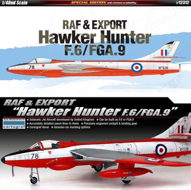 12312 Hawker Hunter F.6/FGA.9 RAF & Export 1:48 Academy