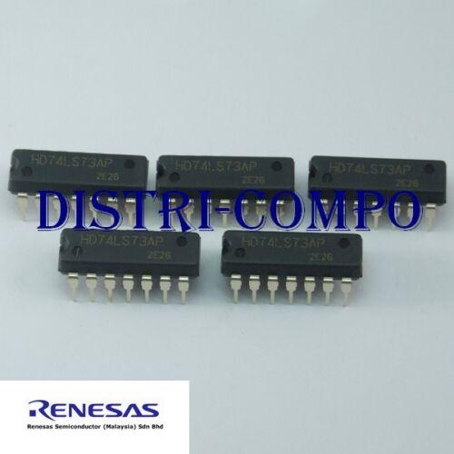 lot de 5 74LS73 = HD74LS73AP-E 2 bascules JK DIP-14 Renesas Rohs