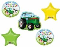 Tractor Farm Barnyard Babies Baby Animals 5 Piece Mylar Balloons Set