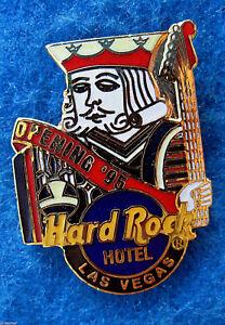 LAS VEGAS HOTEL GRAND OPENING POKER KING 95 GUITAR Hard Rock Cafe PIN FREE SHIP