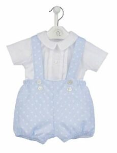 Dandelion spanish designer Romany traditional baby boys outfit set shorts shirt