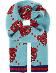 Gucci-Mens-Bengal-Angry-Cat-Tiger-Wool-Scarf-With-Web-Trim