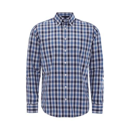 Jake*s Tailored Fit Freizeithemd mit Button Down Kragen Herren