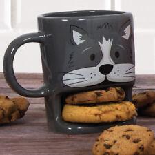 Brew Buddies Cat Mug Tea Coffee Cup Biscuit Holder Snack | eBay