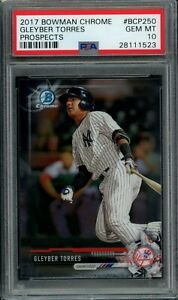 GLEYBER-TORRES-2017-Bowman-Chrome-BCP250-RC-Rookie-Yankees-PSA-10-GEM-MINT