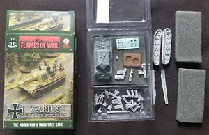 Flames of War German - (GBX80) Carius with his Jagdtiger and Crew - OOP - LW