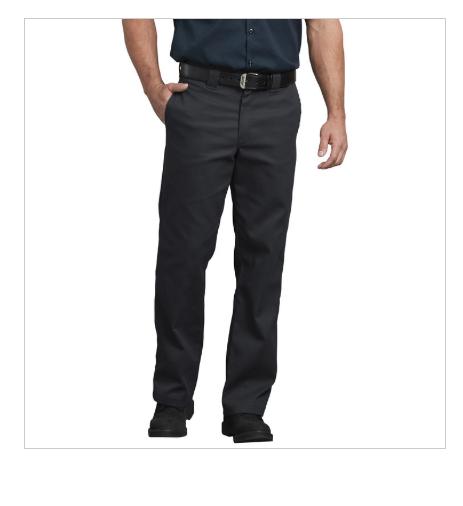 13529f163b Dickies 874 Flex Original Fit Men's Black & Khaki Work Pants, Flat Front $48