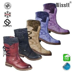 Womens-Winter-Warm-Ankle-Boots-Fur-Snow-Side-Zipper-Flats-Suede-Shoes-Booties