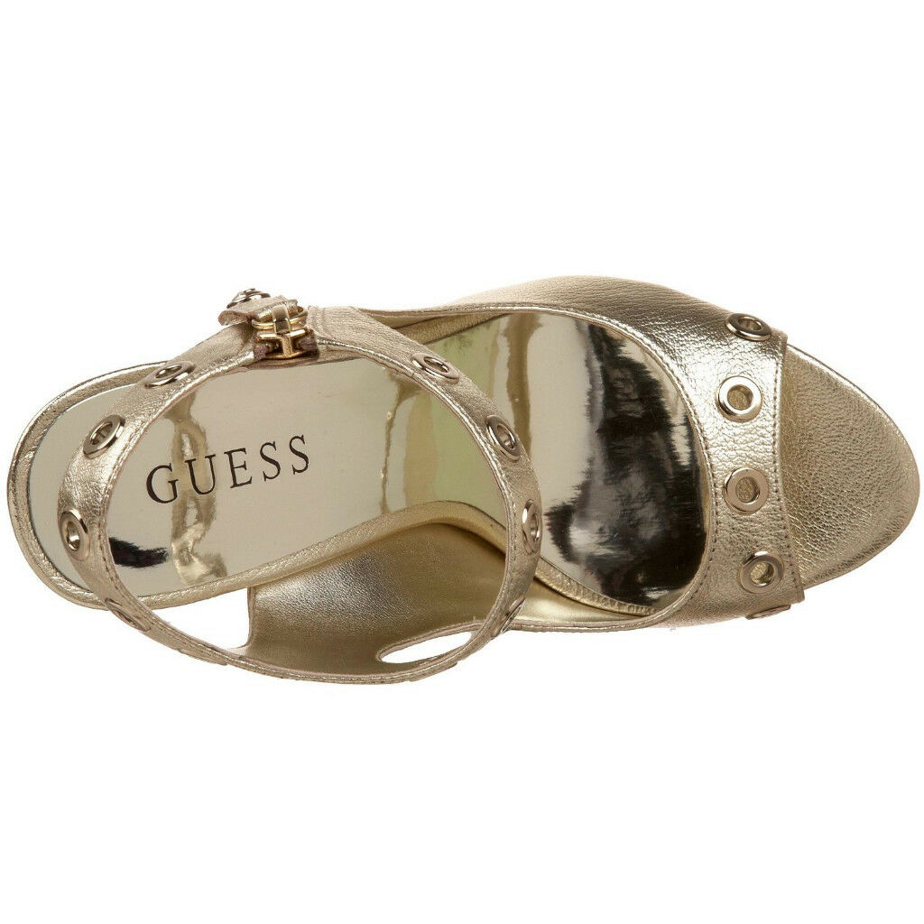 GUESS GUESS GUESS SANDALS HEELS PUMP OLYMPIC LEATHER  Sz. 10 b91c7c