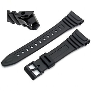 Watch-Strap-Flexible-Black-Resin-to-fit-Casio-W96-W-96H-W96H-577EA1