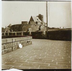 Francia Saint-Malo Ca 1910 Château Foto Stereo Placca Da Lente VR12hb