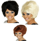Ladies Beehive Wig 50s 60s 70s Mod Womens Fancy Dress Costume Accessory