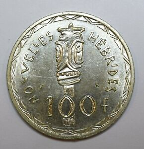 1966-New-Hebrides-Vanuatu-100-Francs-Lot-368