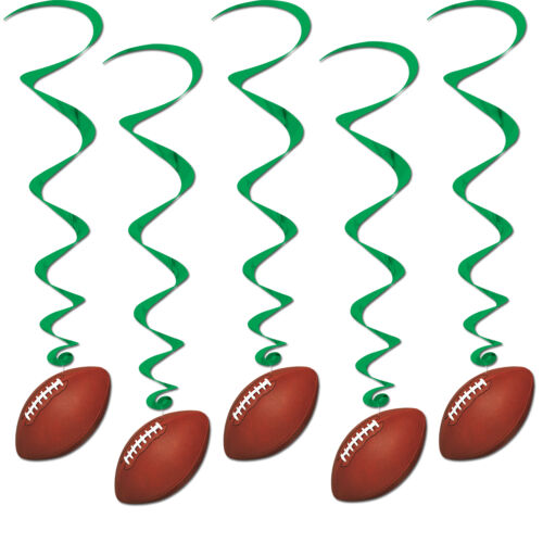 Football Whirls 5 Piece Football Party Decoration