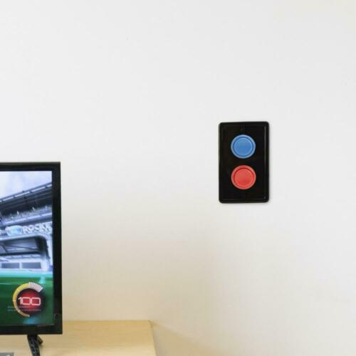 Single Black//Red//Blue Arcade Light Switch Plate Cover