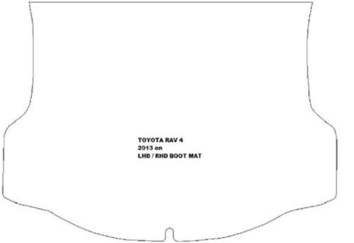 TOYOTA RAV 4 su misura Tappetino Di Gomma Nera Stivale con bordo nero. 2013 in