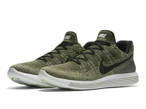 1685156c6e6 Nike Lunarepic Low Flyknit 2 Mens Running Shoes 10 Rough Green Black 863779  300 for sale online