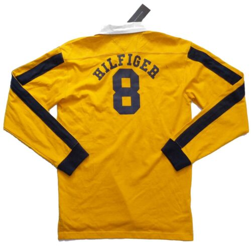 NWT GREAT XL 20 YOUNG MEN TOMMY HILFIGER LONG SLEEVE YELLOW T SHIRT 100/% COTTON