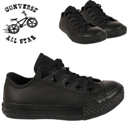 2 Uk10 Sneaker Taille Garons Infantile Nouveau Converse Enfants Cuir En Baskets Noir Et Chaussures Filles 88O7xq