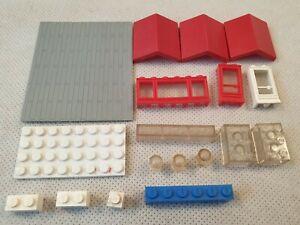 VINTAGE LEGO Bundle tra cui i colmi Windows BLOCCHI CHIARA 1950s 1960s