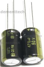 2x Panasonic Fm 470uf 50v Low Esr Radial Capacitors Caps 105c 125mm 125x20