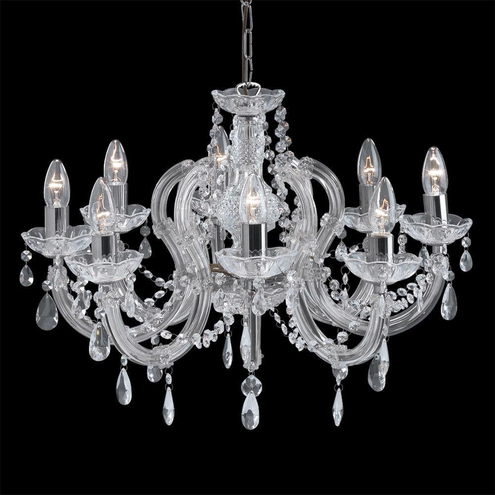 light Marie  se se se 8 Lumières Chrome Cristal Plafonnier Lustre Neuf   Shopping Online  72ced6
