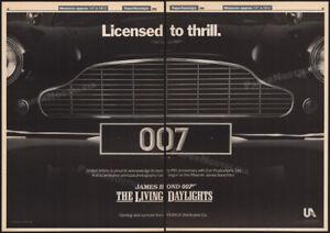 THE-LIVING-DAYLIGHTS-Orig-1986-Trade-AD-poster-ASTON-MARTIN-JAMES-BOND-007