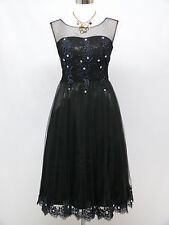 Cherlone Black Prom Ball Evening Formal Wedding Bridesmaid Dress Size 12-14