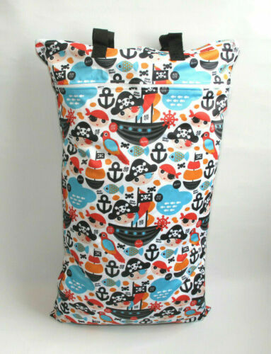 Extra Large XL Wet Bag Baby Nappy Pail for Reusable Nappies /& Pads Pirates